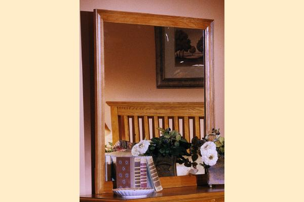 Carolina Furniture Carolina Oak SD Landscape Mirror