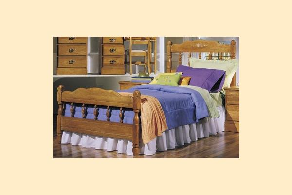 Carolina Furniture Carolina Oak Twin Spindle Bed