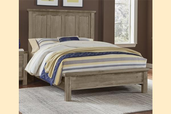 VB Artisan & Post  Maple Road-Weathered Gray Queen Mansion Bed