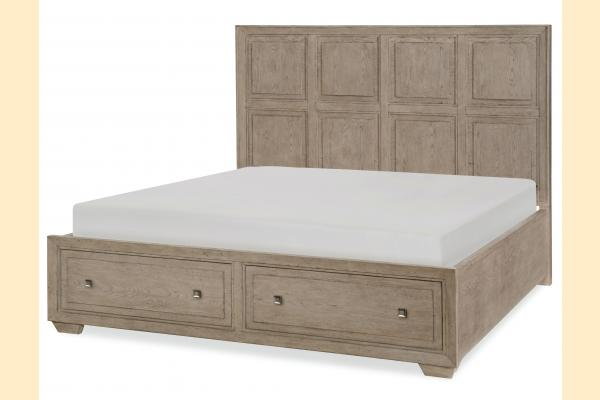 Legacy Bridgewater Cal-King Panel Bed w/ Storage Footboard