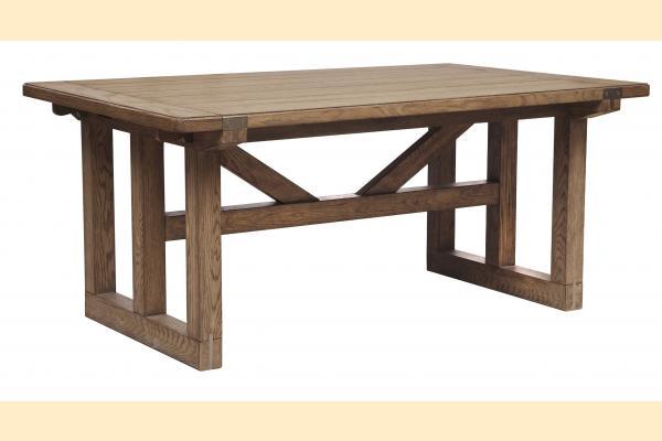 Pulaski Corridor 16 Trestle Table w/ 2 12 Inch Leaves