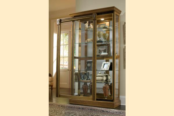 Pulaski Curio Cabinet 20484 Two Way Sldg Door Curio