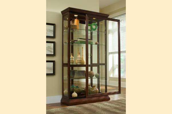 Pulaski Curio Cabinet 20542 Two Way Sliding Door Curio