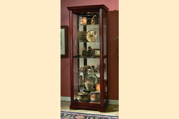 Pulaski Curio Cabinet 20717 Two Way Sldg Door Curio