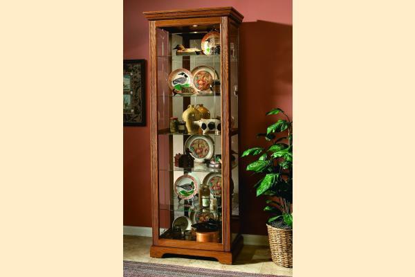 Pulaski Curio Cabinet 20719 Two Way Sliding Door Curio
