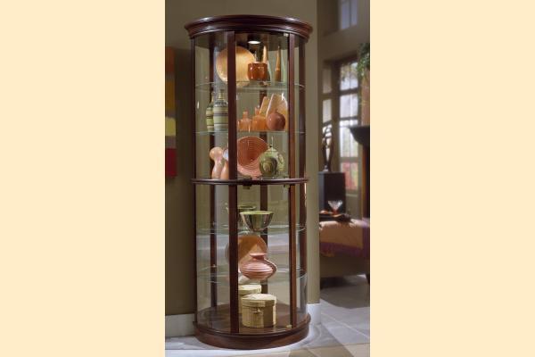 ... Pulaski Curio Cabinet 20858 Half Round Curio ...