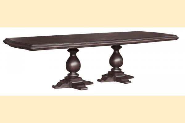 Pulaski Ravena Double Pedestal Table w/ 2 18 Inch Leaves