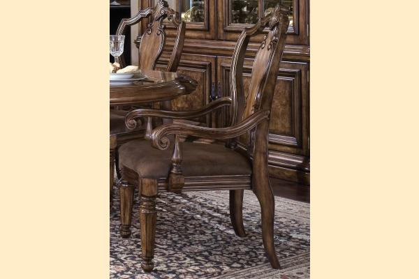 Pulaski San Mateo Carved Back Arm Chair
