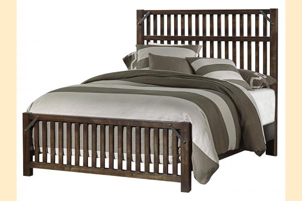 VB Artisan & Post  Sedgwick-Classic Dark Maple Cal-King Elevator Slat Bed
