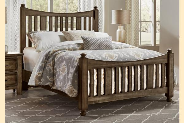 VB Artisan & Post  Maple Road-Maple Syrup Queen Slat Poster Bed