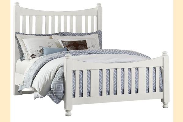 VB Artisan & Post  Maple Road-Chalky White Queen Slat Poster Bed