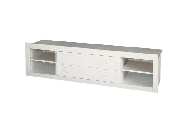 SmartStuff Black and White White Storage Unit with Side Rail Panel