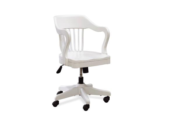 SmartStuff Black and White White Young Banker's Chair