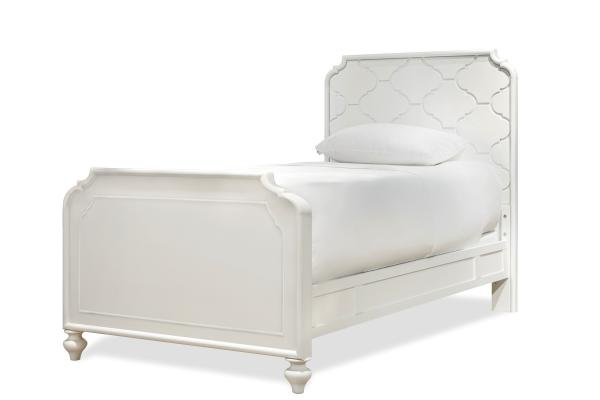 SmartStuff Black and White White Twin Panel Bed