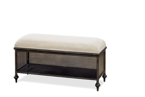 SmartStuff Black and White Metal Bed Bench