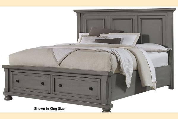 Vaughan Bassett Reflections-Antique Pewter Queen Mansion Storage Bed