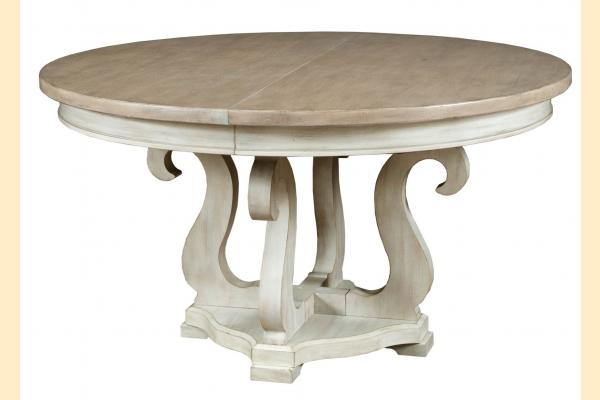American Drew Litchfield Sussex Round Dining Table w/ 1 20 Inch Leaf