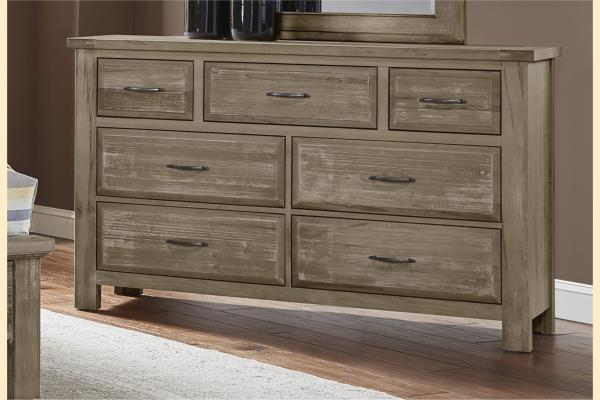 VB Artisan & Post  Maple Road-Weathered Gray Triple Dresser