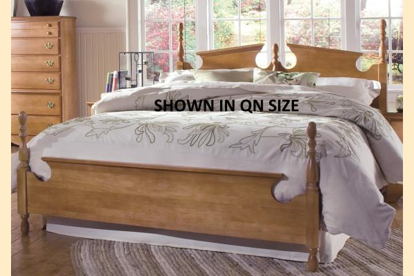 Carolina Furniture Common Sense Maple Twin Panel Bed