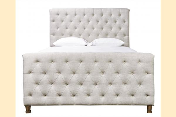 Universal Furniture Authenticity Franklin Street King Bed- Blended Linen