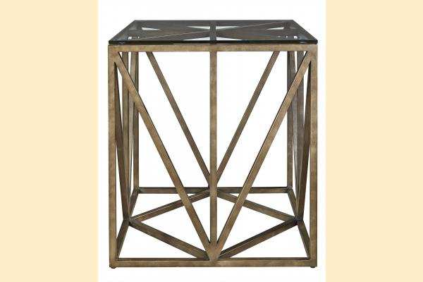 Universal Furniture Authenticity Truss Square End Table