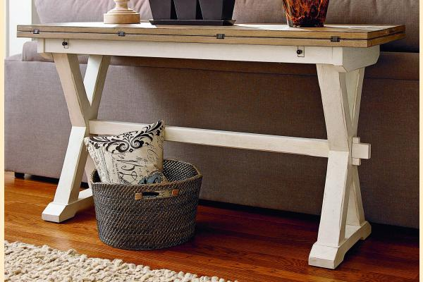 Universal Furniture Great Rooms Occasional Drop Leaf Console Table