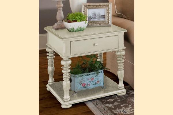 Paula Deen Linen Rectangular End Table