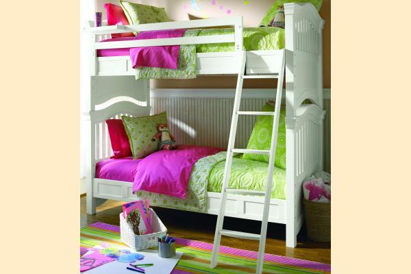 SmartStuff SmartStuff Classic 4.0 Summer White Twin Bunk Bed