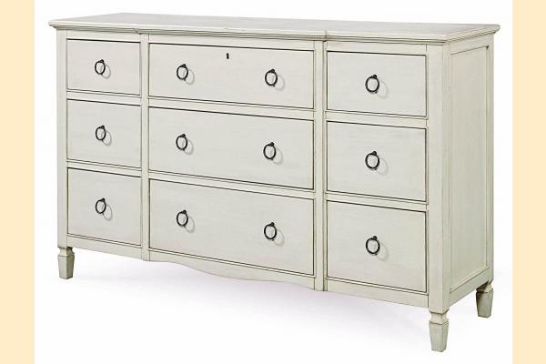 Universal Furniture Summer Hill-Cotton Nine Drawer Dresser