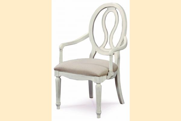 Universal Furniture Summer Hill-Cotton Pierced Back Arm Chair