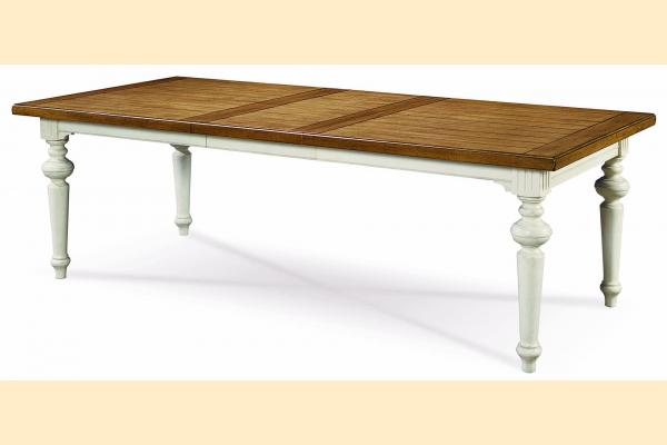 Universal Furniture Summer Hill-Cotton Rectangular Dining Table w/ Two 20