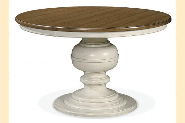 Universal Furniture Summer Hill-Cotton Round Dining Table w/ One 20