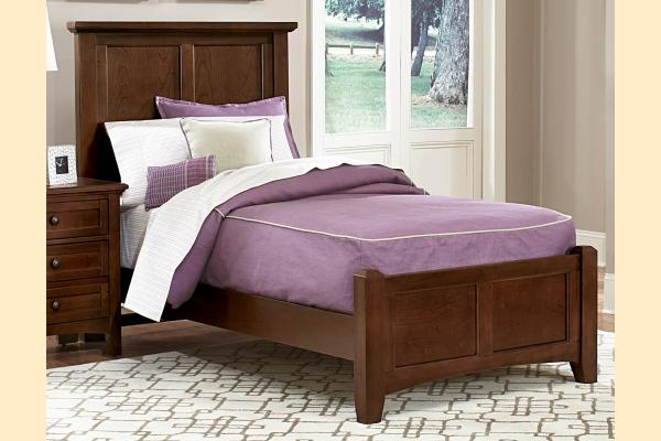 Vaughan Bassett Bonanza-Cherry Twin Mansion Bed