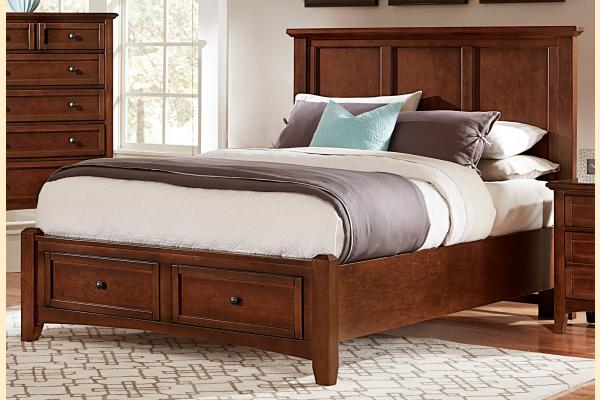 Virginia House Ponderosa-Cherry Full Mansion Storage Bed
