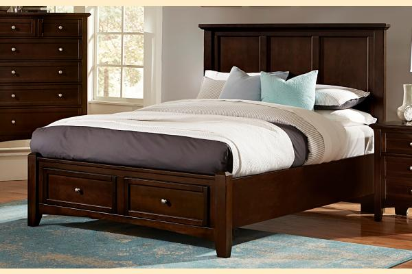 Vaughan Bassett Bonanza-Merlot King Mansion Storage Bed