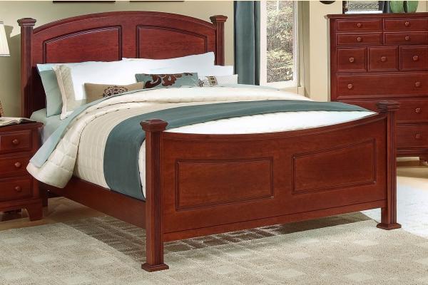 Virginia House Delano-Cherry Queen Panel Bed