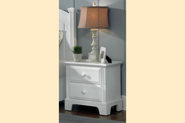 Vaughan Bassett Franklin-Snow White 2 Drawer Nightstand