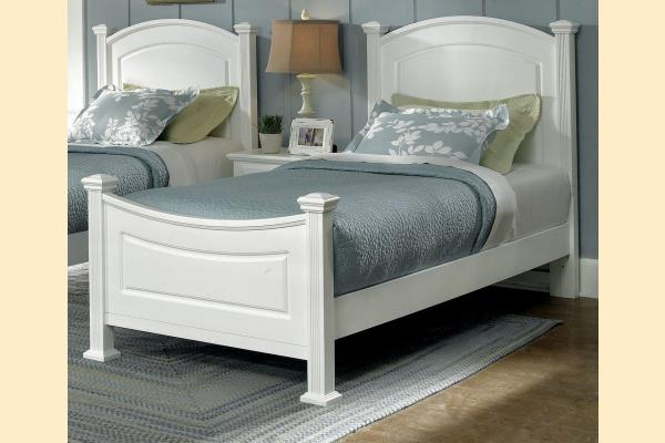 Virginia House Delano-Snow White Twin Panel Bed