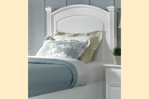 Virginia House Delano-Snow White Twin Panel Headboard/Bed Frame