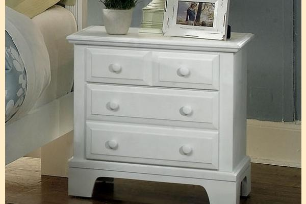 Virginia House Delano-Snow White Large 2 Drawer Nightstand