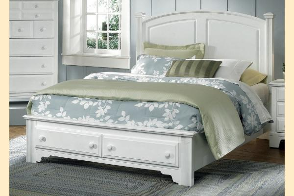 Virginia House Delano-Snow White King Panel Bed with Storage