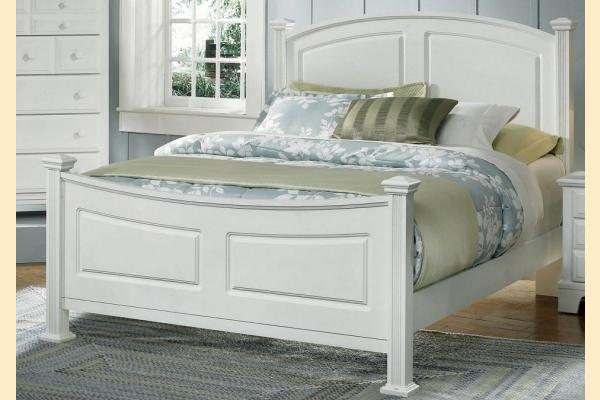 Vaughan Bassett Franklin-Snow White Cal-King Panel Bed