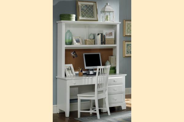 Vaughan Bassett Franklin-Snow White Computer Desk with Hutch