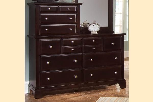 Virginia House Delano-Merlot Vanity Dresser