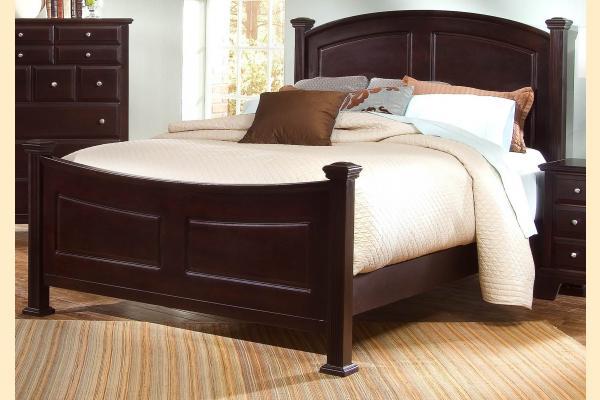 Virginia House Delano-Merlot Queen Panel Bed
