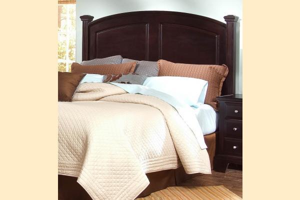 Virginia House Delano-Merlot Queen Panel Headboard/Bed Frame