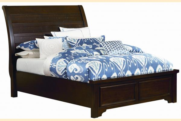 Virginia House Saxony-Dark Cherry Full Low Profile Bed