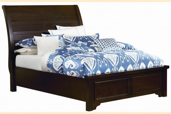 Virginia House Saxony-Dark Cherry Queen Low Profile Bed