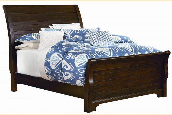 Virginia House Saxony-Dark Cherry King Sleigh Bed