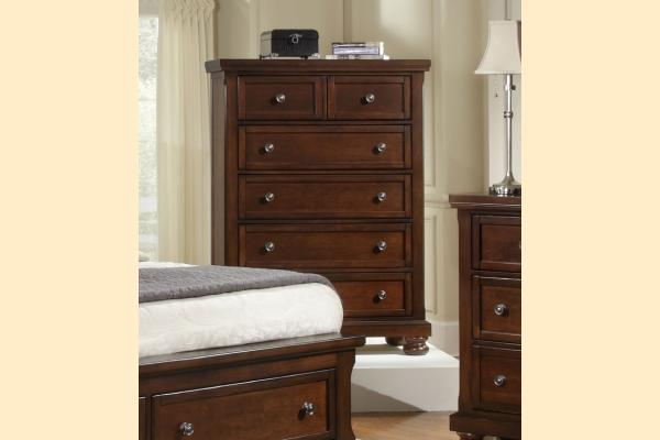 Virginia House Impressions-Dark Cherry 5 Drawer Chest